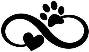 Download Custom Vinyl Car Decal Infinity Pet Love Paw Print Heart ...