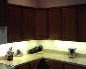 details about kitchen under cabinet professional lighting kit warm white led strip tape light