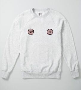 Nipples Sweatshirt Boobs Free Pride Jumper Feminist Cute Piercing Breast Lit Top