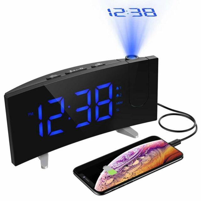 Digital Weather Black Led Alarm Clock