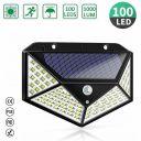 100 LED Solar Powered Light PIR Motion Sensor Garden Security Outdoor Wall Lamp