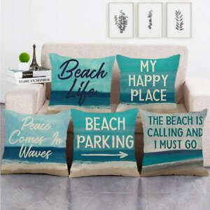 details about beach throw pillow covers holiday summer nautical decorative square cushion case