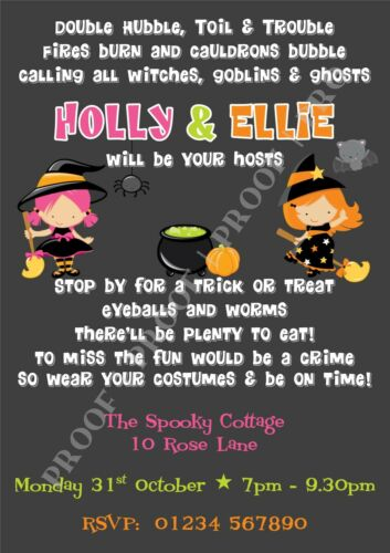 mobel wohnen personalised halloween party invitations x 10halloween birthday party invites sonstige avacapitalgroup com