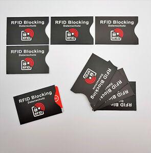 RFID NFC Schutzhülle Blocker Datenschutz Abschirmung Personalauswei