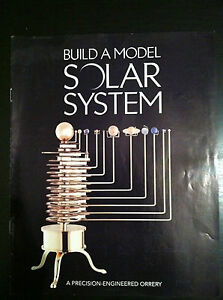 Solid Brass Orrery Build a Model Solar System. Inc Tool ...