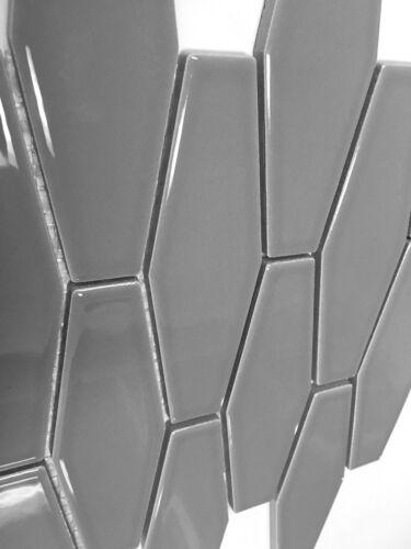 building hardware elongated gray hexagon porcelain mosaic wall tile kitchen backsplash bath flooring tiles