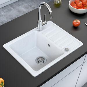 details sur bergstroem evier de cuisine en granit encastre reversible 575x460 blanc