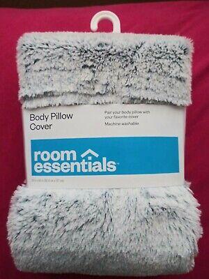 room essentials blue white shag faux fur body pillow cover 20 x 50 nwt ebay