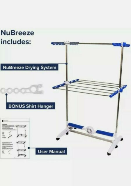 folding indoor cool air drying system airer 20kg laundry clothes dryer rack