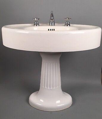 standard mfg antique pedestal sink victorian cast iron plumbing porcelain 1900 ebay