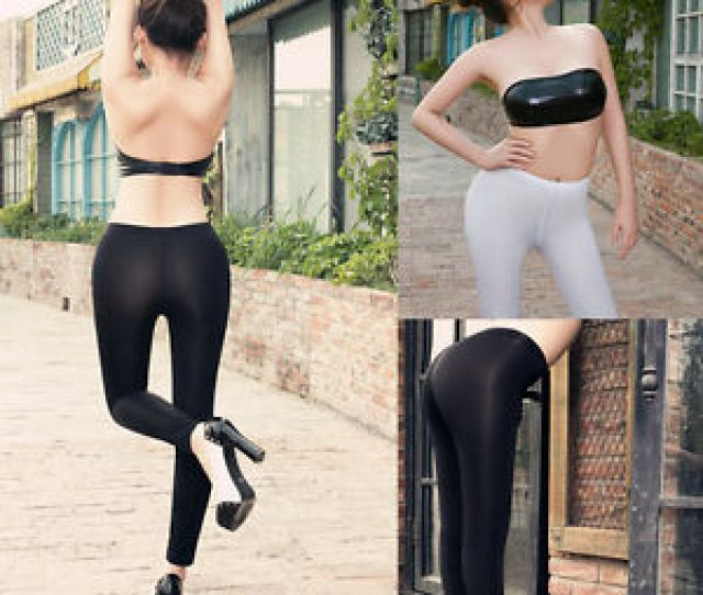 Image Is Loading Women Transparent Sheer Open Crotch Stretch Gym Yoga