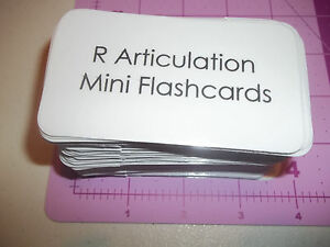 100 Miniature Speech Therapy Flash Cards. Letter R Articulation Word Cards. Ne