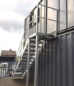 2 8M High Fire Escape Steel Staircase Galvanised Steel Staircase   Steel Fire Escape Stairs   Architectural   Internal   Industrial   Emergency   Fire Exit