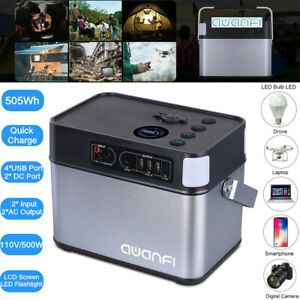LCD 500Wh Generator Power Supply Energy Storage Station 4USB 2AC DC Quick Charge