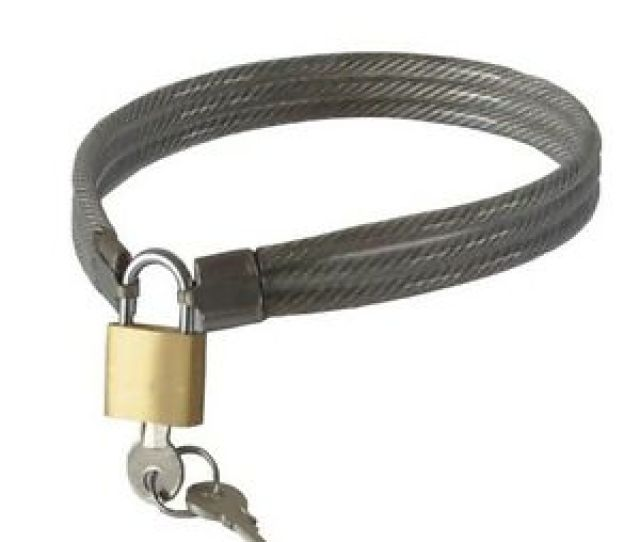 Image Is Loading Locking Stainless Steel Wire Slave Collars Brass Padlock