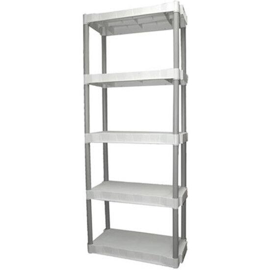 5 Tier Shelving Rack Shelf Plastic Storage Pantry Food New 2