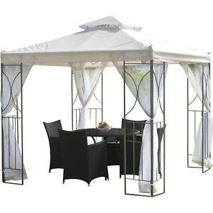details about 8x8 gazebo canopy outdoor patio pergola tent sun shade awning backyard metal new