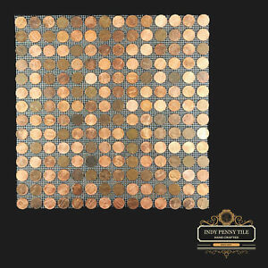 details about tile sheets of us copper pennies penny tiles 12 x12 free shipping
