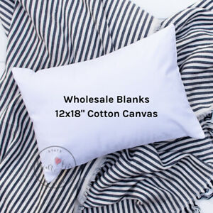 details about wholesale blank pillow cover 12x18 10 oz soft cotton canvas white or natural