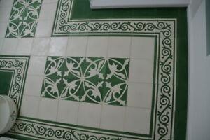 details sur motif paquet ciment carrelage sol carrelage mosaique decoration mondial vert blanc salle de bain afficher le titre d origine