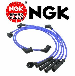 New NGK Set Spark Plug Wires Pickup Truck for Nissan D21