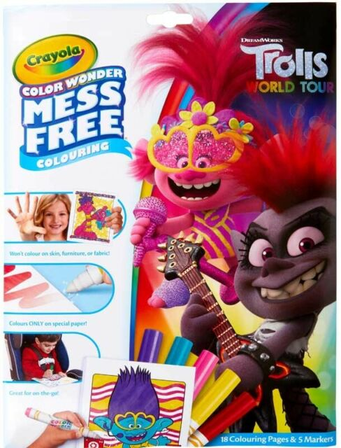 Crayola Trolls 2 World Tour Colour Wonder Mess Colouring Set For Sale Online Ebay