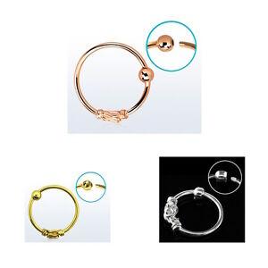 Nasenring 925er Silber/Gold/Ro