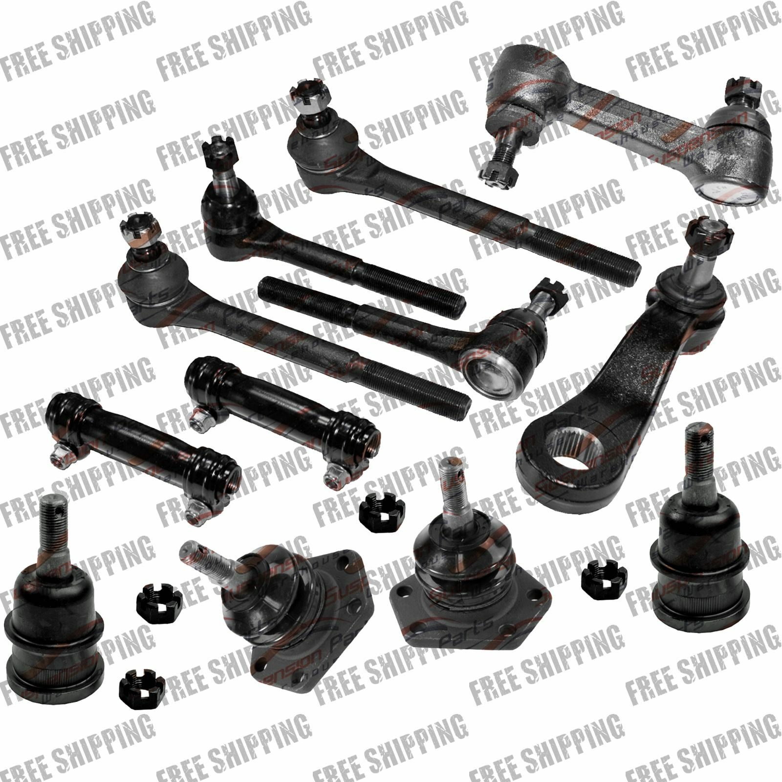 Front Steering Rebuild Kit Part Tie Rods Ball Joint For
