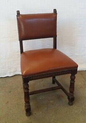 ancienne chaise en bois et cuir ebay