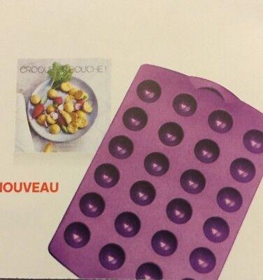 lot de 2 moules silicone mini domes et livre recettes tupperware neuf ebay