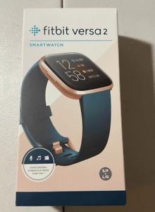 Fitbit Versa 2 FB507RGPE Fitness Smartwatch - Copper Rose /Emerald