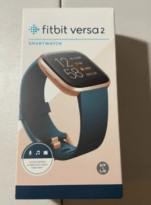 Fitbit Versa 2 FB507RGPE Fitness Smartwatch - Copper Rose /Emerald