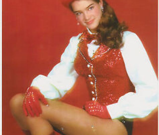 Image Is Loading Brooke Shields Super Sexy Teen In Fishnets Circus