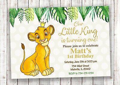 lion king birthday invitation simba lion king party invitation ebay