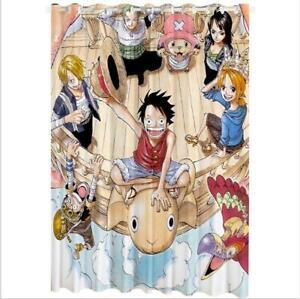 details zu one piece luffy anime manga gardine vorhang fenstervorhang curtains polyester