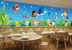 Stai cercando murales di vinile adesivo di disney ® ?. 3d Bambino Mondo Parete Murale Foto Carta Da Parati Immagine Sfondo Muro Stampa Ebay