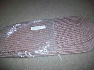 Set Of 2 Braided Stair Treads Tan Color Oval 28 1 2 Non Skid | Braided Stair Treads With Rubber Backing | Non Slip | Skid Resistant | Anti Slip | Heritage Farms | Slip Resistant