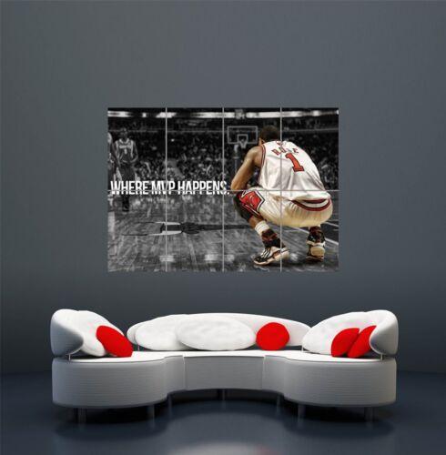 derrick rose mvp basketball star giant wall art print poster picture wa115 art posters art