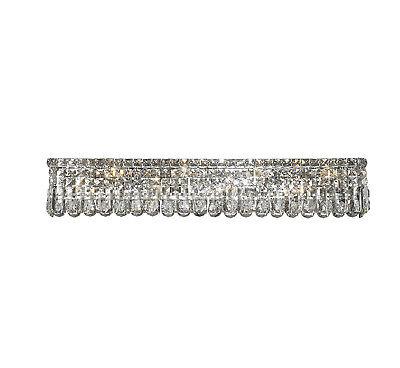 """8-Light W 36"""" Long Cascade Clear Crystal Wall Sconce ... on Crystal Bathroom Sconces id=71396"""