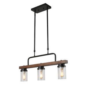 details about kitchen wood pendant lighting rustic chandelier retro ceiling light fixture
