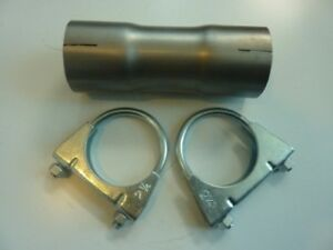 details about 2 25 2 5 57m 63m exhaust pipe connector stainless clamp on adapter reducer