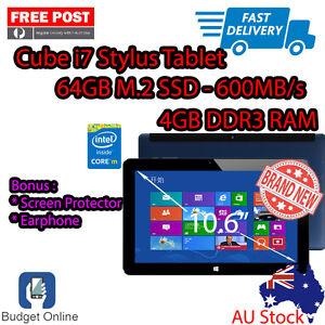 "Cube i7 Stylus 10.6"" Intel Core M 4GB 64GB + Screen Protector + Earphone Bundle"