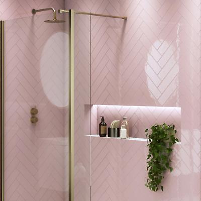 full tile sample brookland rose pink flat metro wall tiles 7 5 x 30cm ebay