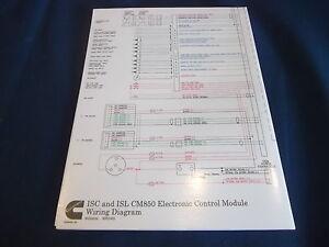 CUMMINS ISC ISL CM850 ELECTRONI CONTROL MODULE WIRING