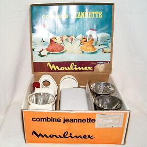 details sur moulinex robot combine jeannette 220v 3 rapes vintage hachoir grinder 3 graters