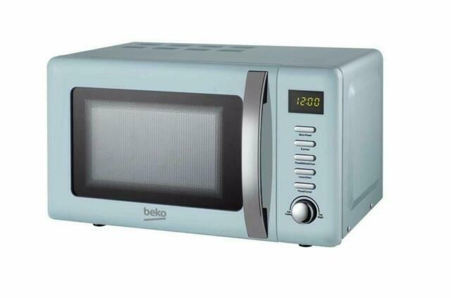 beko retro moc20200m 20l microwave blue