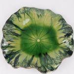 Global Views Lily Pad Plate Bowl Wall Decor Green Exotic Freeform 11