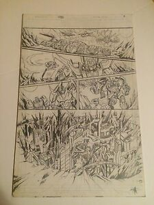 TRANSFORMERS original ART more than meets the eye ann pg #18 CRYSTAL CITY, COOL!