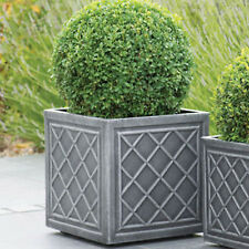 Grey Planter Pots Plastic Large Garden Square Flower Plant Lead     item 2 Large Square Planter Pot 38 cm Lead Effect Quality Plastic Garden  Flowers Patio  Large Square Planter Pot 38 cm Lead Effect Quality Plastic  Garden