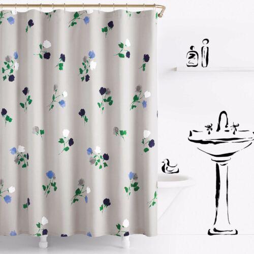 mobel wohnen kate spade willow court shower curtain gray blue green floral shabby chic bath duschvorhange